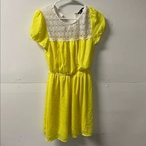 3/30 Forever  21 Womens A Line Dress Yellow M